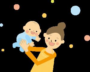 赤ちゃん抱っこのイラスト