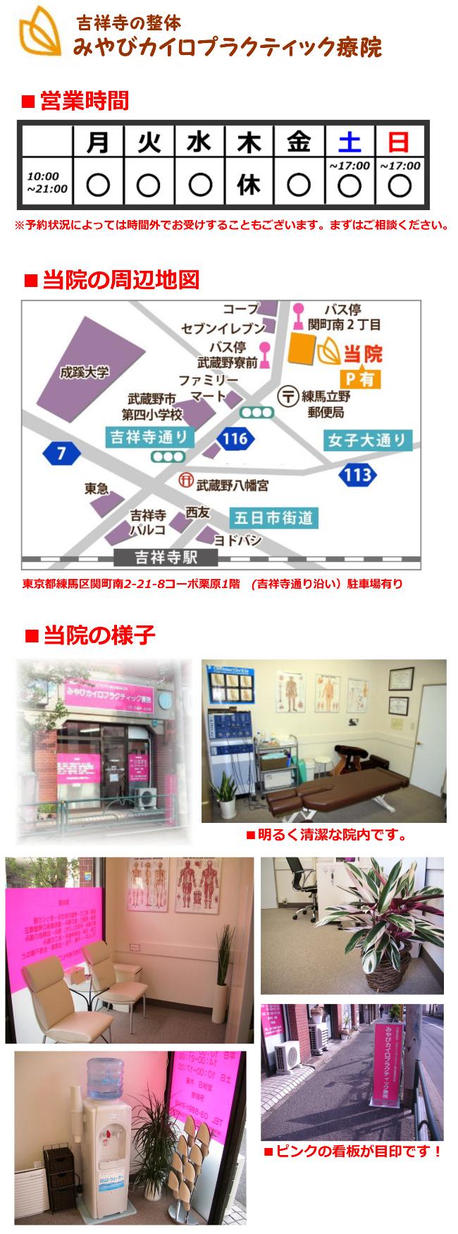 営業時間・当院の周辺地図・当院の様子