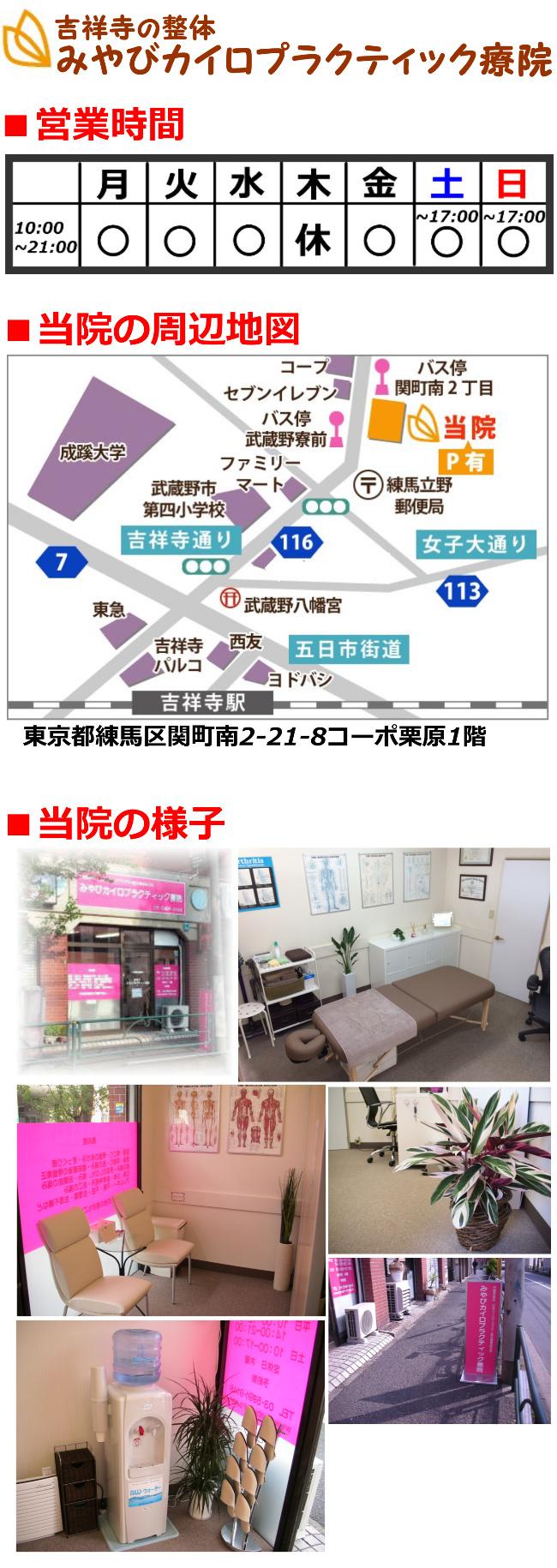 営業案内・当院の周辺地図・当院の様子
